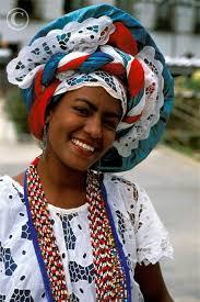 woman in traditional dress salvador da bahia brazil