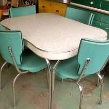 retro formica kitchen table three quarter by maureenhanratty via