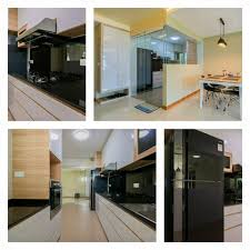 Open Concept Kitchen by Open Concept Kitchen With Glass Door At Sengkang East