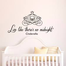 live like there u0027s no midnight cinderella wall decal quote