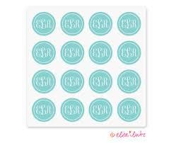monogram stickers printable monogram stickers or seals aqua