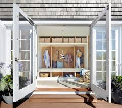 mud laundry room ideas entry beach style with double doors side