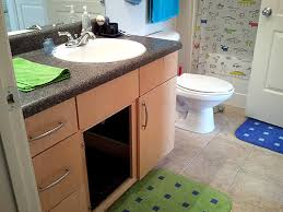 Under Bathroom Sink Cabinet by The Tiny Bathroom Litterbox Solution U2013 Themissy Com