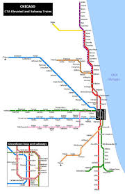 Dubai Metro Map by Chicago Metro Map Map Of Metro Chicago United States Of America