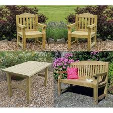 Heavy Duty Garden Bench Elda Heavy Duty Garden Furniture Set