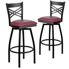 awesome bar stools red leather counter height metal burgundy