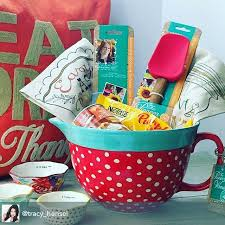 gift basket ideas such a idea for a gift the batter bowl makes a basket