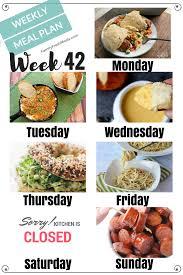 easy weekly meal plan week 42 family fresh meals