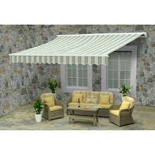 12x10 Awning by Sunjoy Conner 13 U0027 Motorized Awning Green White Bj U0027s Wholesale Club