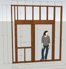 Framing Exterior Door Garage Doors Garage Door Roughng Detail Categorized Sketch 9x7
