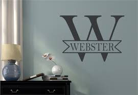 personalized home decor custom personalized monogram letter and name vinyl decal wall