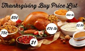 thanksgiving buy price list 2014 southern savers