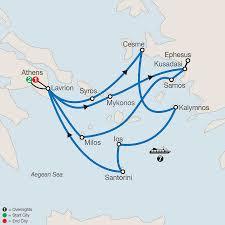 Aegean Sea Map Greece Guided Tour U0026 Cruise Globus Escorted Tours