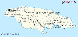 Jamaica Map Jamaica Map With Parishes And Capital