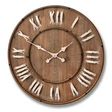 home design rustic extra larged roman numeral wall clock