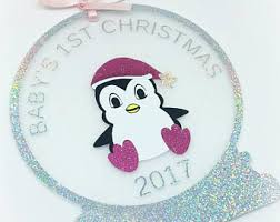 Personalised Baby S First Christmas Keepsake Bauble by Babys First Christmas Bauble Personalised Name Bauble
