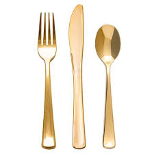 plastic cutlery 24 high end gold plastic fork knife spoon cutlery set smarty had