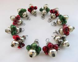 Miniature Glass Christmas Tree Decorations by Mercury Glass Ornaments Etsy