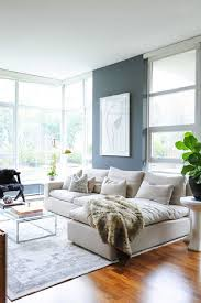 wonderful tranquil living room design white couch and armchair