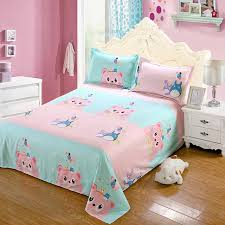 soft sheets nordic style home decor bedding soft polyester cartoon cat bed