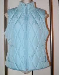 Light Blue Vest Tommy Hilfiger Vest Womens L Quilted Puffer Light Blue Full Zip