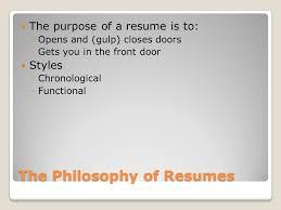 Resume The Work Job Skills Ii The U201cfunctional U201d Resume The Philosophy Of Resumes