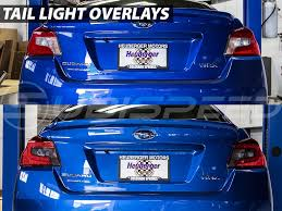 subaru wrx decal tail light blackout tinted overlay smoked red yellow 2015