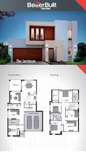 duplex house floor plans architecture drawing double storey bungalow plan three house