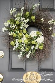 Wreath For Front Door Summer Wreath Tutorial Stonegable
