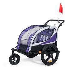 si e bebe velo samax 360 rotatif remorque vélo convertible jogger 2en1 enfant en