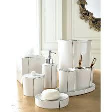 white ceramic bathroom accessories set for chrome sets ideas