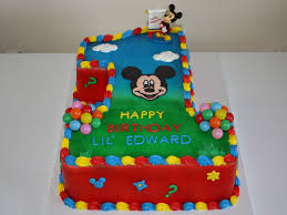 mickey mouse clubhouse birthday cake mickey mouse clubhouse 1st birthday cake cakecentral