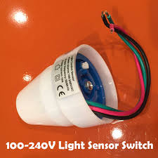 photocell sensor automatic light control switch free shipping 110v 240v 10a outdoor auto on off light sensor switch