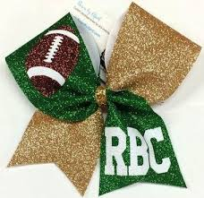 football ribbon the football fan bow with football graphic customized with a name