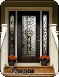 glass door tampa aragon old world style glass door insert with bronze caming