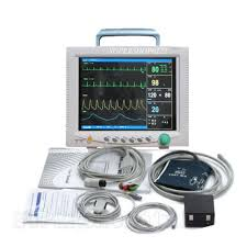 contec cms7000 portable icu ccu patient monitor with resp temp pr