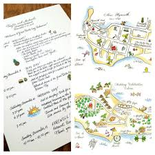 Destination Wedding Itinerary In My Shoes Chic Alert Custom Weekend Wedding Maps