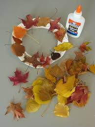 leaf wreaths for kids use paper plates fallen leaves and