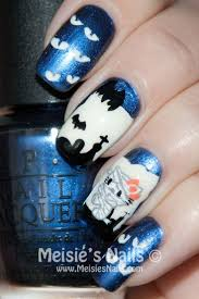 cute halloween nail art 2 nail designs bats and mummy nails fun