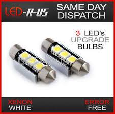 error free 3 smd led license number plate light bulbs audi a4 b5