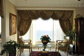 Swag Curtains For Living Room Drapery Curtains And Window Coverings Traditional Living