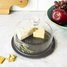 personalized cheese board personalized glass domed slate cheese board set