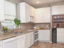 White Kitchen Brick Tiles - backsplash awesome white kitchen brick backsplash on a budget