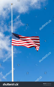 Why Are The Flags Flying Half Mast American Flag Flying Half Mast Half Stock Photo 105955532