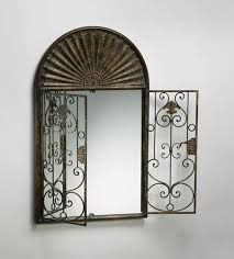 large arched french garden gate wall mirror tuscan arch ornate