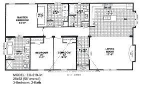 Bedroom Mobile Homes Floor Plans 2017 Also Double Wide 4