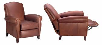 Tall Back Leather Recliner Chair With Rolled Arms Club Furniture - Designer recliners chairs