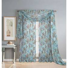 Blue Valances Window Treatments Scarf Blue Window Scarves U0026 Valances Window Treatments The