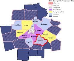 Foreclosure Homes In Atlanta Ga Segregation U0027s New Geography The Atlanta Metro Region Race And