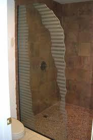 etched glass shower door designs sleek bands custom showers etched glass modern design